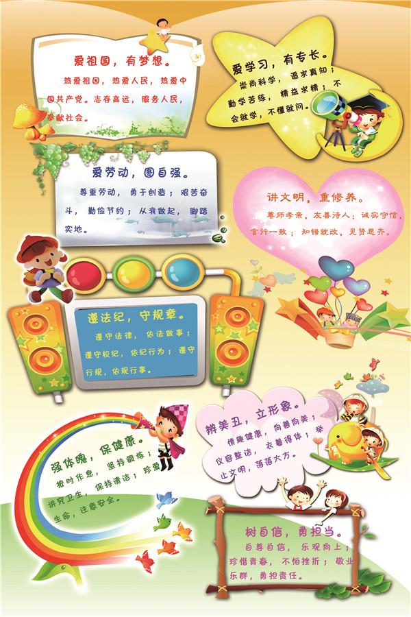 文明风采 中职生公约           作品名称:公约海报   学校名称:潍坊