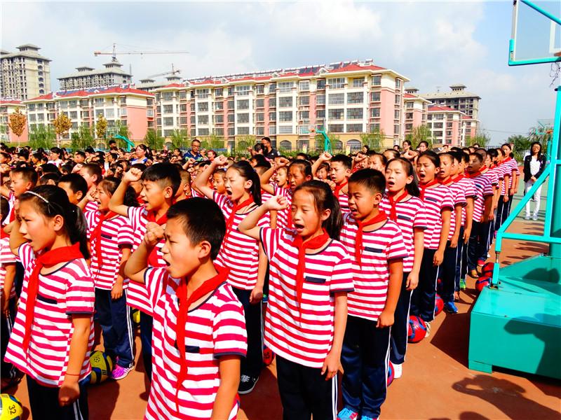 潍坊市中小学生 向国旗敬礼 活动启动图片